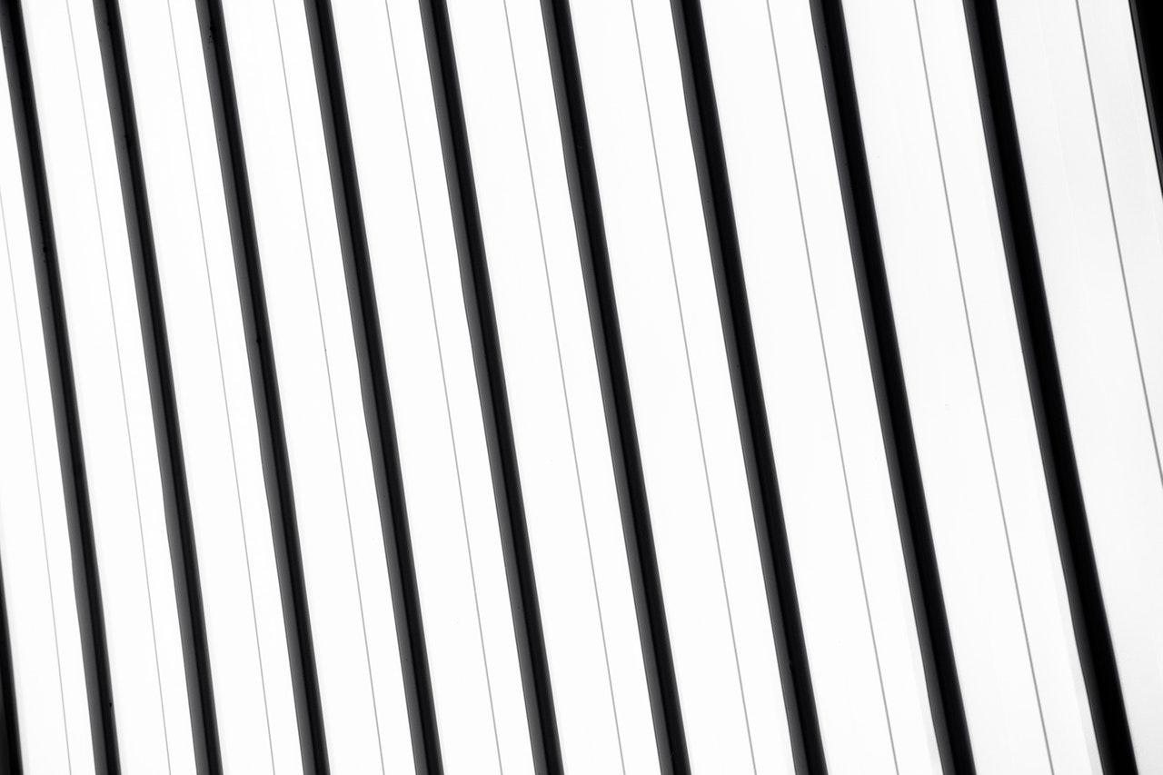 black and white stipes