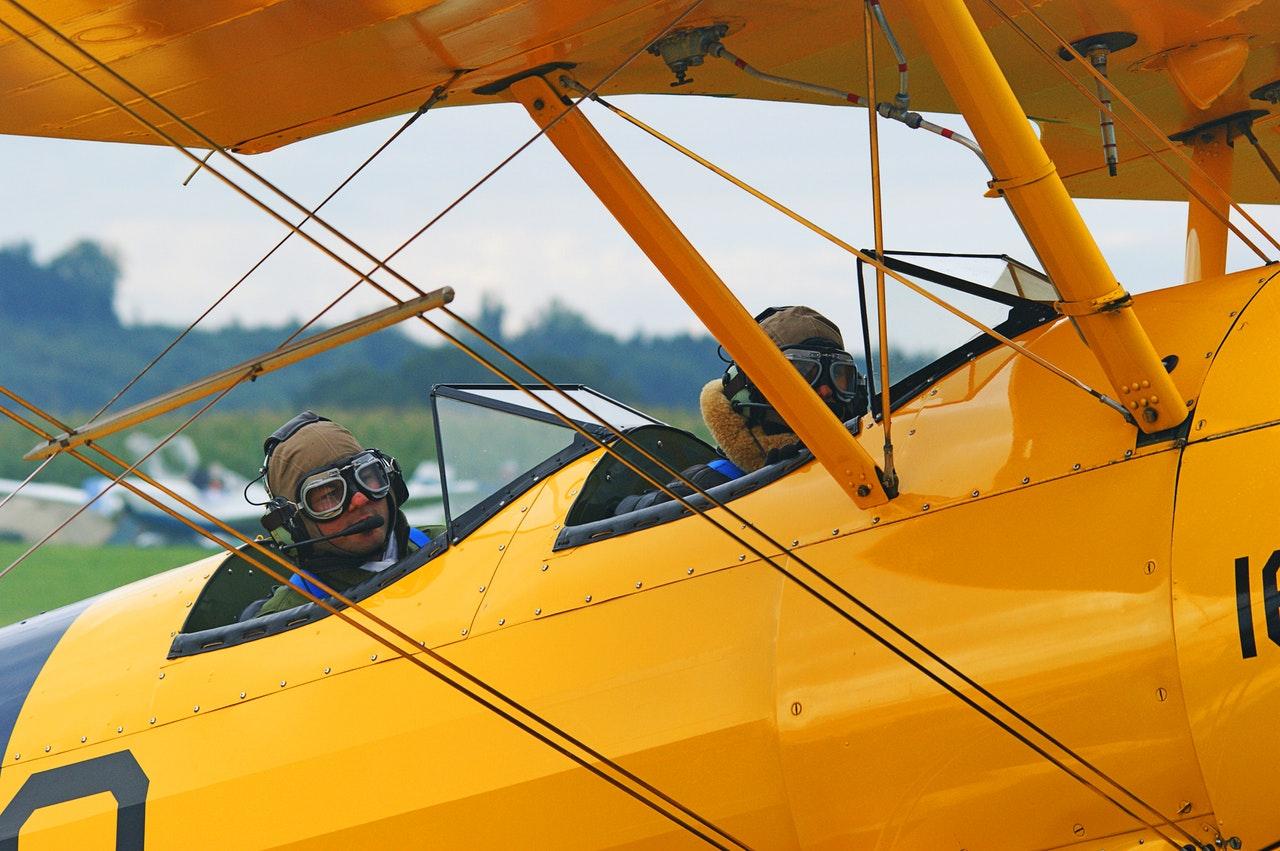 a vintage airplane